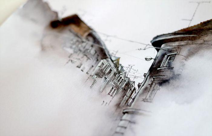 绚丽多彩的水彩画建筑 河南亦锐营销策划有限公司